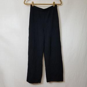 St. John Santana Black knit wide leg ankle pants
